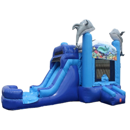 Dolphin Wet or Dry Slide Combo Bouncer Ashville, Ohio